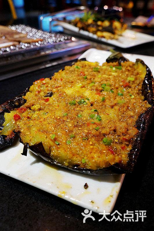 朕爱烤场创意炭烧料理肉末茄子图片 - 第182张
