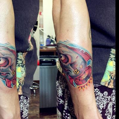 炸弹鲨鱼纹身款式图