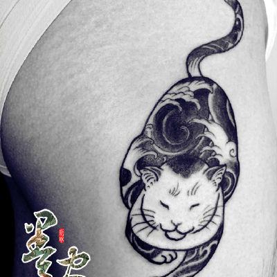 浮世绘猫纹身图