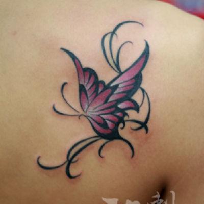 印象刺青-蝴蝶纹身图
