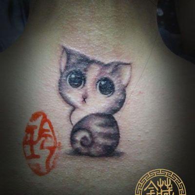 萌猫纹身图